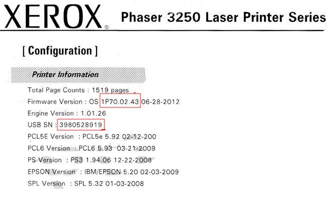 Reset Xerox Phaser 3250 | eReset – fix firmware reset